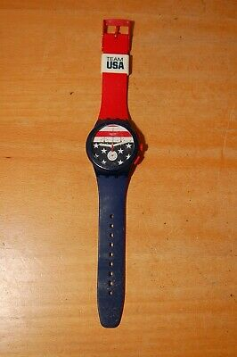 Swatch Watch Chronograph 4 jewels Team USA Olympics Stars
