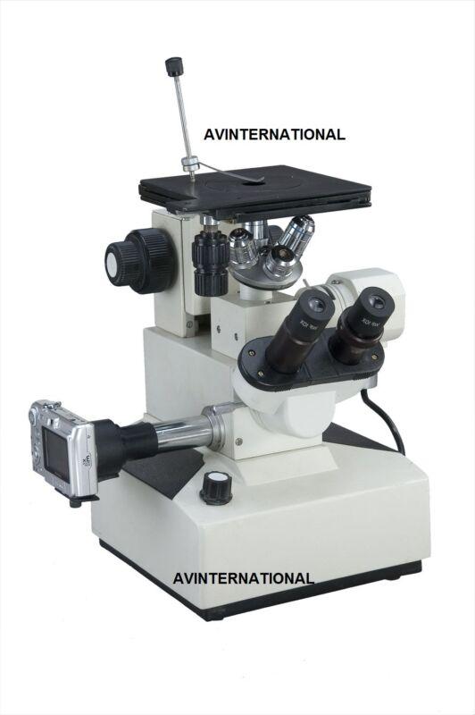 Inverted Metallurgical Microscope Precision Trinocular