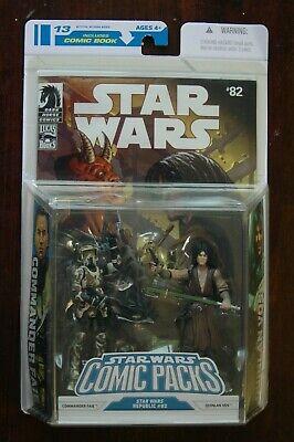 New 2008 Star Wars COMMANDER FAIE & QUINLAN VOS Figures Comic Packs Republic #82