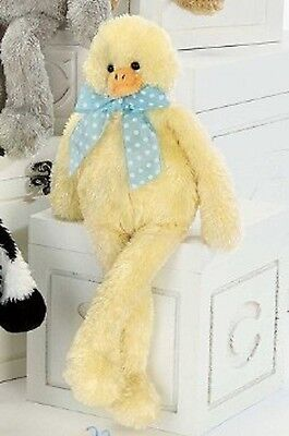 "Bearington Bears Lean Beans 14"" Duncan The Duck Yellow Plush Baby Bear"