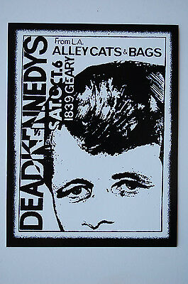 Dead Kennedys  Vintage Concert Flyer Sticker Decal (397) Punk Rock Minor Threat