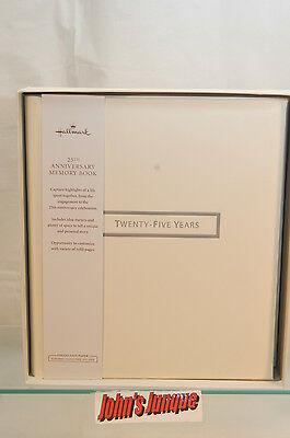HALLMARK~25TH ANNIVERSARY MEMORY BOOK ALBUM~CREAM COLOR~NEW IN BOX~FREE US SHIP~
