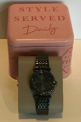 Fossil Lyric Watch ES4713 Black Stainless Steel 32mm Crystals