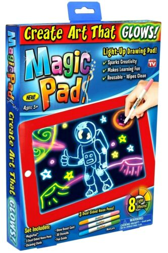 Magic Pad Create Art That Glows Light-Up Drawing Pad 8 Light Effects Age 3+ New