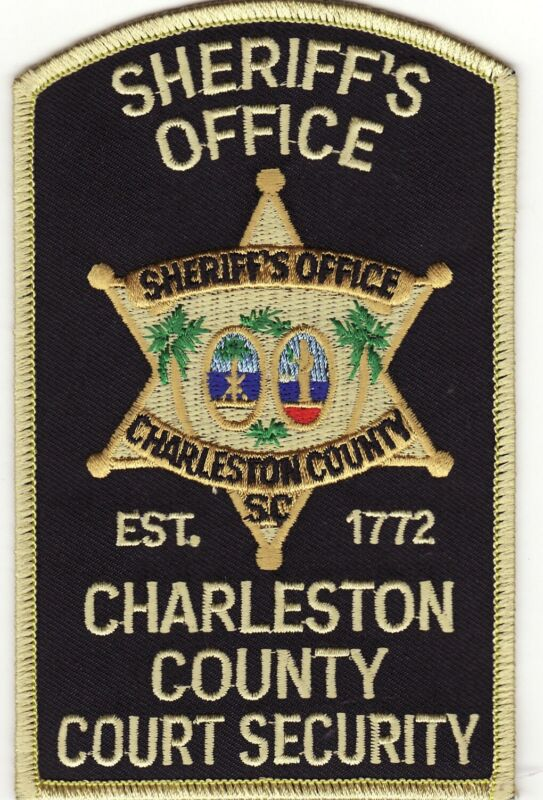 """SC Charleston County Court Security South Carolina Sheriff Police 5"""" Patch *New*"""