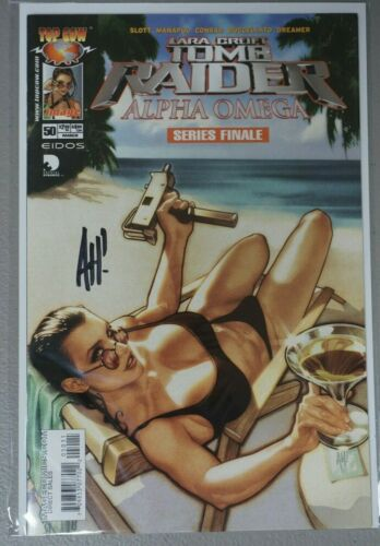 Tomb Raider #50 Top Cow Image Lara Croft Signed Auto Adam Hughes AH! HOT FINAL