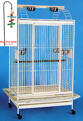 """78"""" Large Open PlayTop Double Ladder Parrot Cockatiel Macaw Aviary W/Toy Hood"""