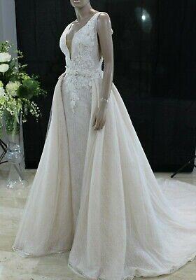 Abito da Sposa Novia D'Art Jade Wedding Dress Bridal Matrimonio Taglia 44...