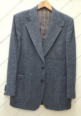 Vtg._Ghillie Collar_Made In England w/H&M Pure New Welsh Wool Tweed