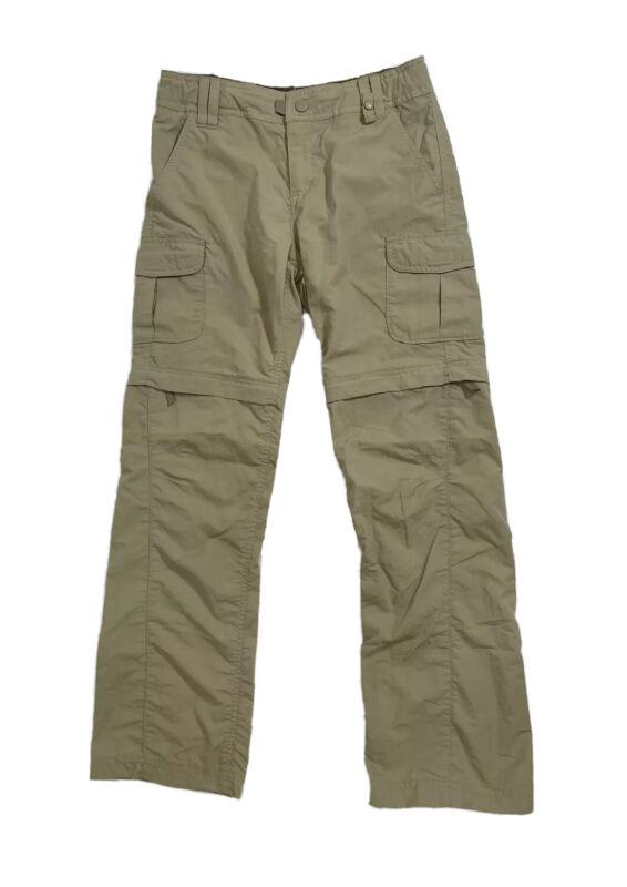 REI Girls Medium 10-12 Convertible Zip Off Pants Shorts Tan Nylon Lightweight