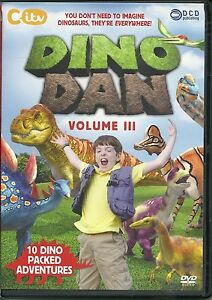 DINO DAN VOLUME III DVD - 10 DINO PACKED ADVENTURES - DINOSAURS - KIDS CITV