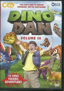 DINO DAN VOLUME III DVD - 10 DINO PACKED ADVENTURES - DINOSAURS - KIDS CITV