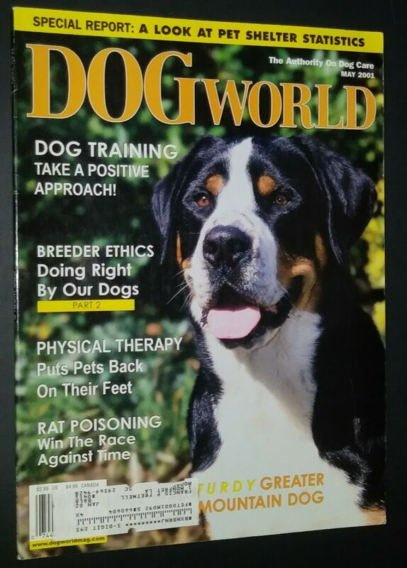 Dogs World Illustrated Magazine Greater Swiss Mountain Dog Cover May 2001