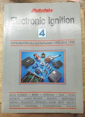 AUTODATA ELECTRONIC IGNITION REFERENCE BOOK 4 1993-1994.