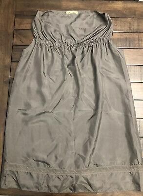 """""""Velvet"""" Brand (Anthropologie) Gray Silk Tunic Dress - Medium"""
