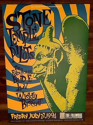 MINT Stone Temple Pilots Fillmore Poster 1994 Weiland / Chuck Sperry
