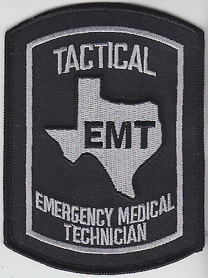 Texas TACTICAL EMT Emergency Medical Technician subdued patch TX