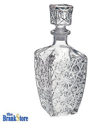 Vintage Glass Decanter Wine Stopper Bar Liquor Whiskey Crystal Like Bottle