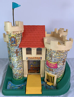 Vintage 1974 Fisher Price Little People Play Family Castle 993 - w/ Flaws