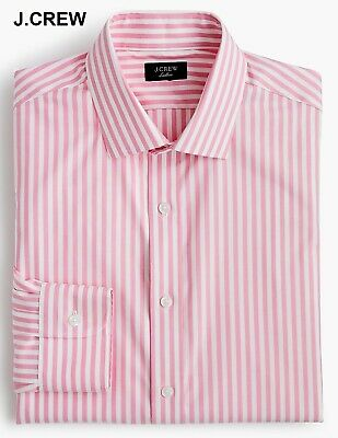 J.CREW Ludlow candy striped dress shirt spread pink white button front up down (Candy Stripe Dress Shirt)