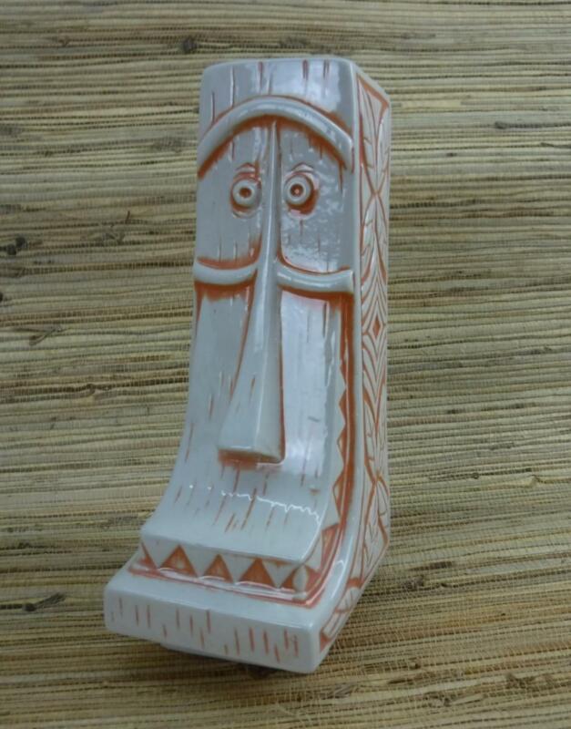 Tiki Mug Whittle by Muntiki Imports Jeremy Spears Orange Cartoon Face Disney 112
