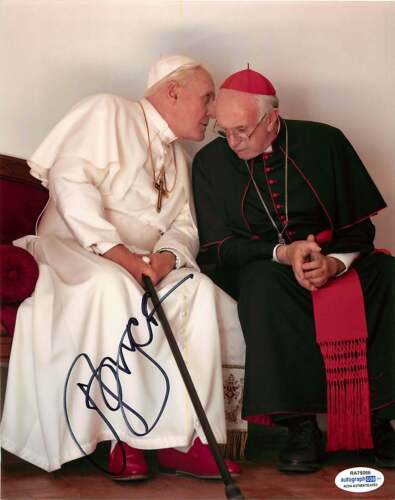 Jonathan Pryce Signed Autographed 'The Two Popes' 8x10 Photo ACOA B Francis Bond