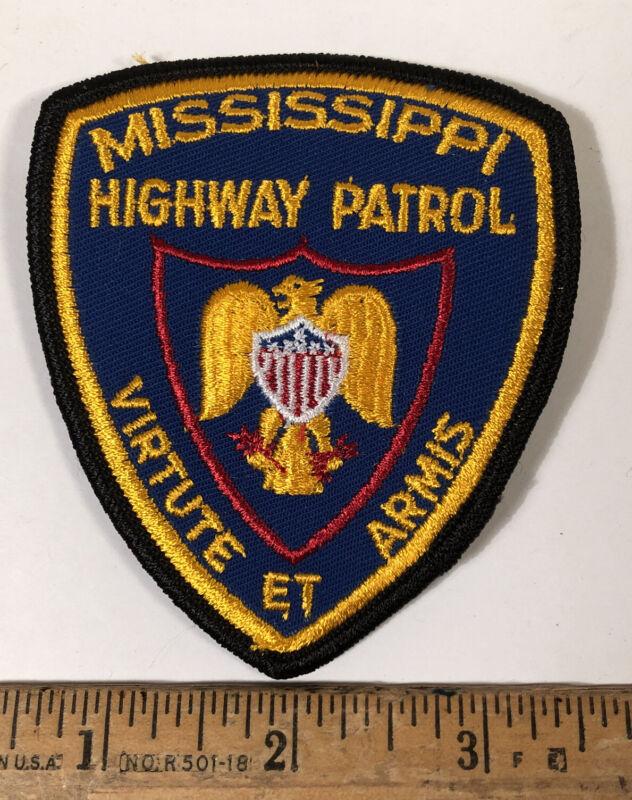 Vintage Mississippi Highway State Patrol Embroidered Police Patch Black Border