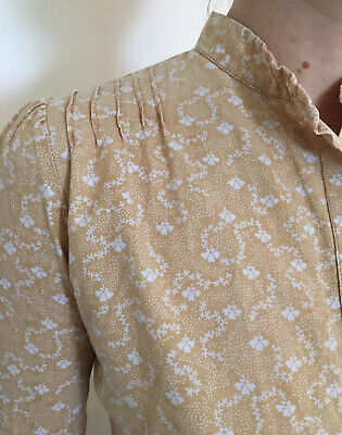 Vintage Laura Ashley blouse 1970s Made In Wales Dyers And Printers