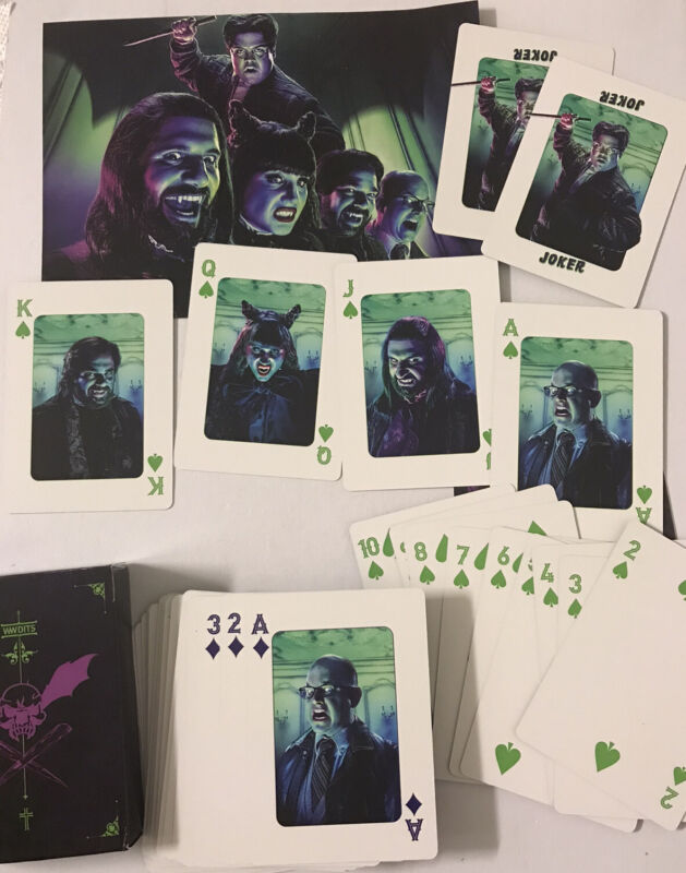 SDCC What We Do In The Shadows Promo Swag Playing Cards FX New Exclusive