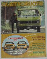 Quattroruote 12/1977 Autobianchi A112 - Volkswagen Scirocco Gt – Mazda 323 - volkswagen - ebay.it