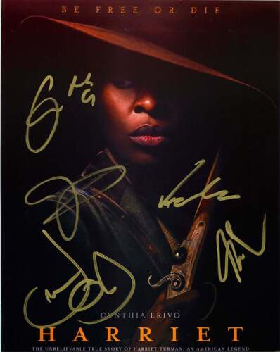 Cynthia Erivo Kasami Lemmons + 3 Harriet Cast Signed 12x18 Photo PROOF ACOA COA