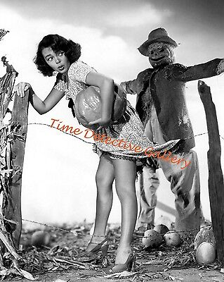 Halloween Pin-up Girl with a Scarecrow - Vintage Photo Print](Pin Up Halloween)