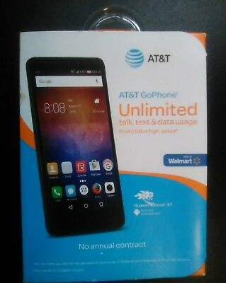 Huawei Ascend Xt 6  Phablet Android Smartphone Prepaid At T Go Phone New In Box
