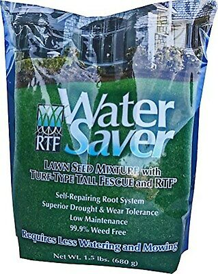 WaterSaver Grass Seed Mixture With Turf-Type Tall Fescue - Used to Seed New