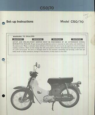 Honda C50 C70 Cub (1977 >) Factory Issue PDI Set-Up Manual C 50 70 Z Z2 BN87
