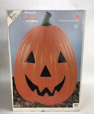 "Vintage Empire Pumpkin Haloween Blow Mold Light Large Giant Jack O Lantern 27"""