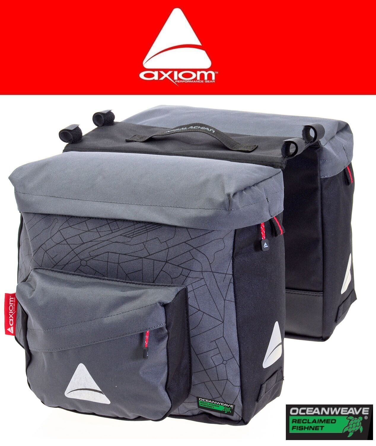 Bicycle Commuter Bag Axiom Pannier Seymour O-Weave Twin P25