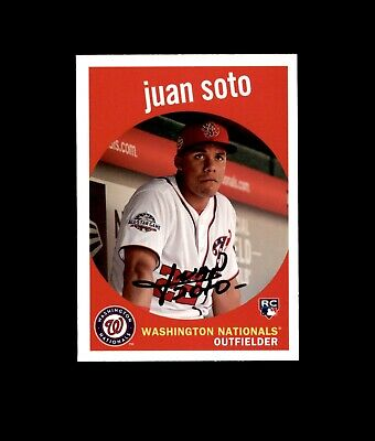 2018 Topps Archives #73 Juan Soto RC ROOKIE Nationals *469