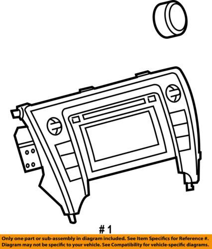Toyota Oem 2015 Camry Stereo Audio Radio Receiver Control Unit