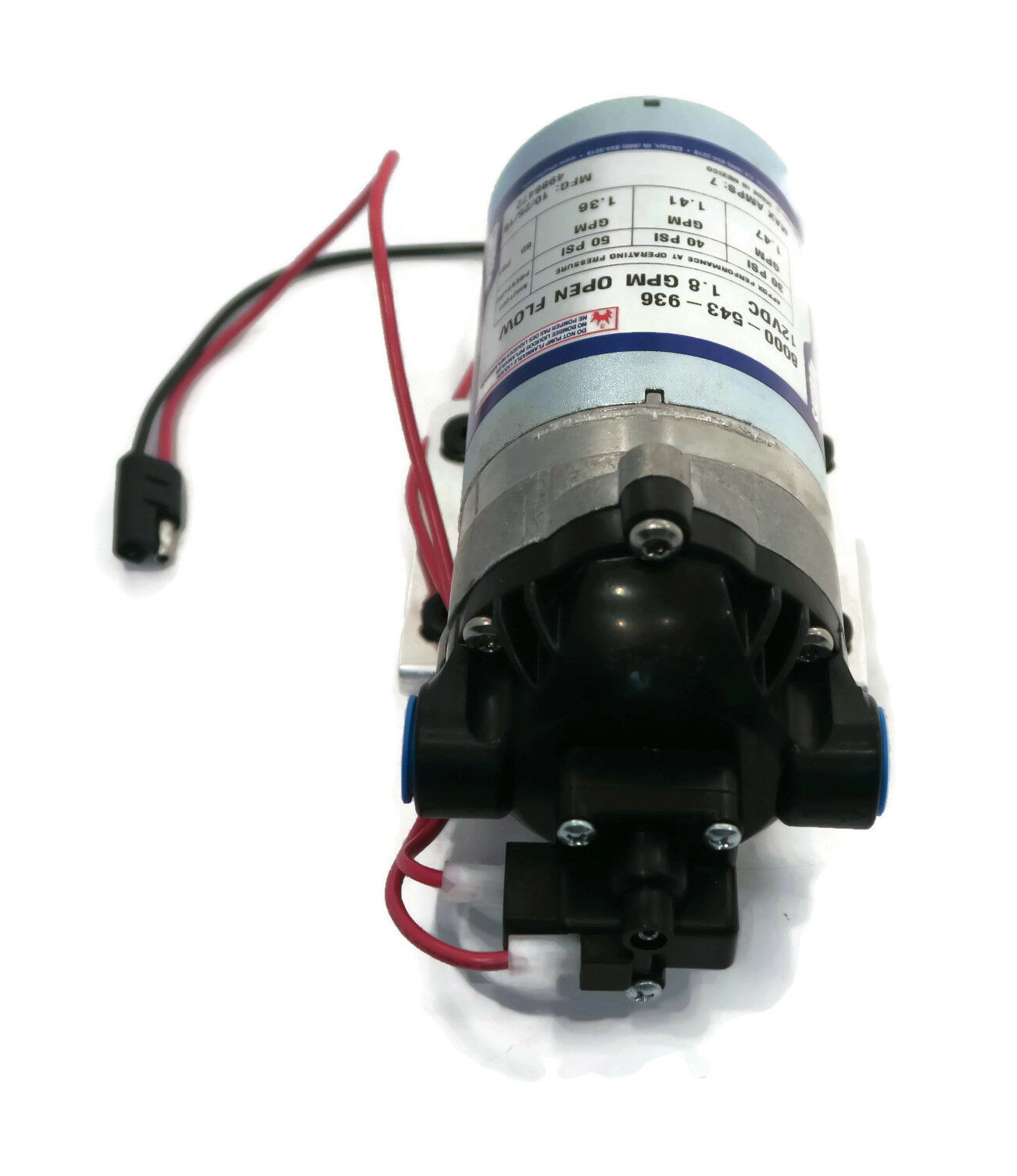 New Shurflo 12v Electric Water Transfer Pump W Wiring Harness 18 Psi Gpm 60