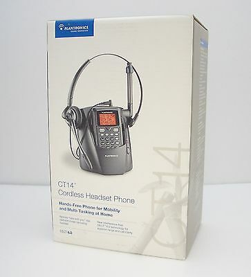 Plantronics CT14 DECT 6.0 Wireless Monaural Headset Telephone 300 Feet Range NEW