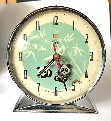 Vintage Retro Wind Up Rocking Panda Alarm Clock London Zoo 1970s Souvenir