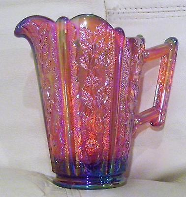 Fenton Ruby Red Carnival Pitcher