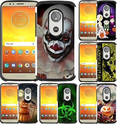 For Motorola Moto E5 Play /Moto E5 Cruise Hybrid Case Phone Cover Halloween 2018 - Play Halloween