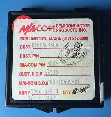 Ma46472-277 Ma-com Semiconductor Varactor Diode Single Chip Die 24units