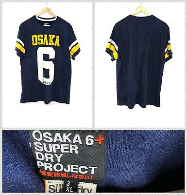Osaka 6 + Superdry Men's Dark Blue Crew Neck T-Shirt - 3XL