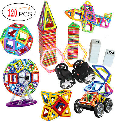 120 Piece Magnetic Tiles magnetic Building Blocks Toys for Kids