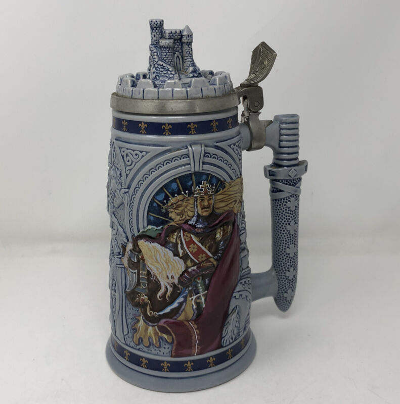 """Knights of the Realm Beer Stein Avon 1995 Made in Brazil Limited Ed Calvary 9"""""""