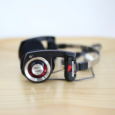 KOSS PORTA PRO ON EAR HEADPHONES (BLACK-RED) WITH NYLON WIRE