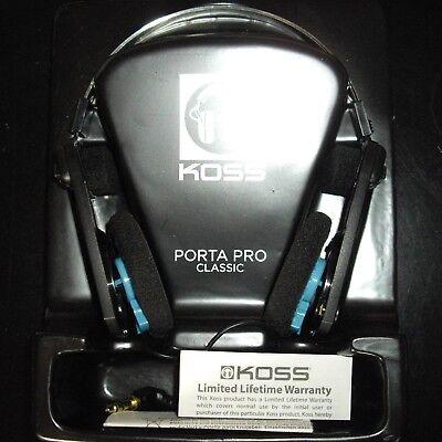 Koss Porta Pro Classic Headband Headphones - Folding w/ comfort adjust -Black